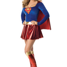 Плюс размер женский сексуальный костюм супердевушки M L XL 2XL