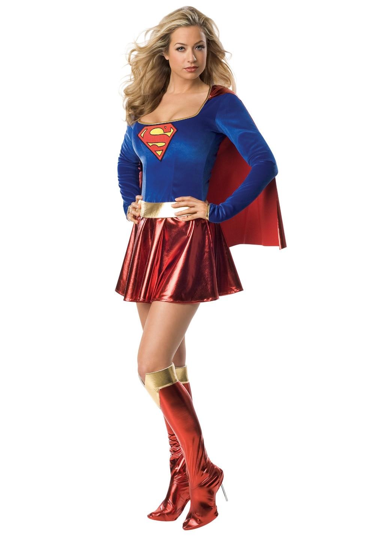 Plus Size Women's Sexy Supergirl Costume M L XL 2XL