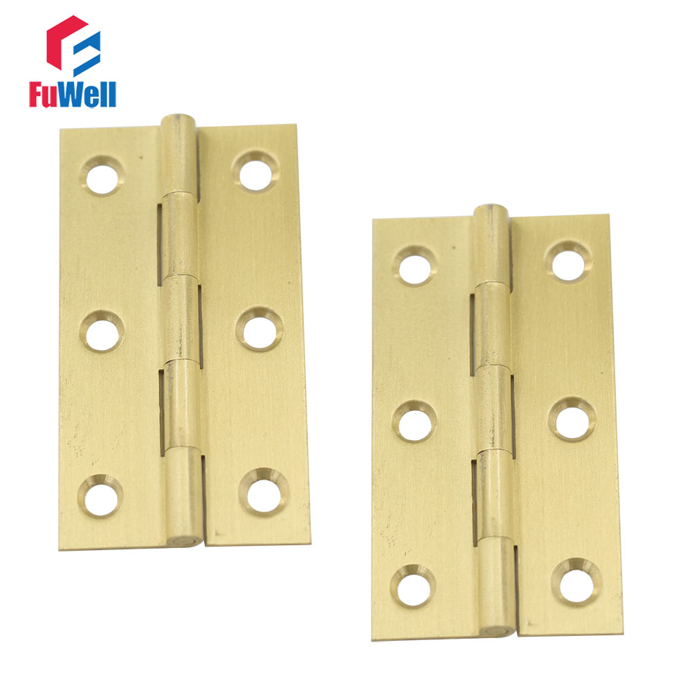 10pcs 2.5inch Brass Hinges Furniture Fixtures Bronze Cabinet Hinges 1mm  Thickness Door Hinges For Kitchen Cabinets