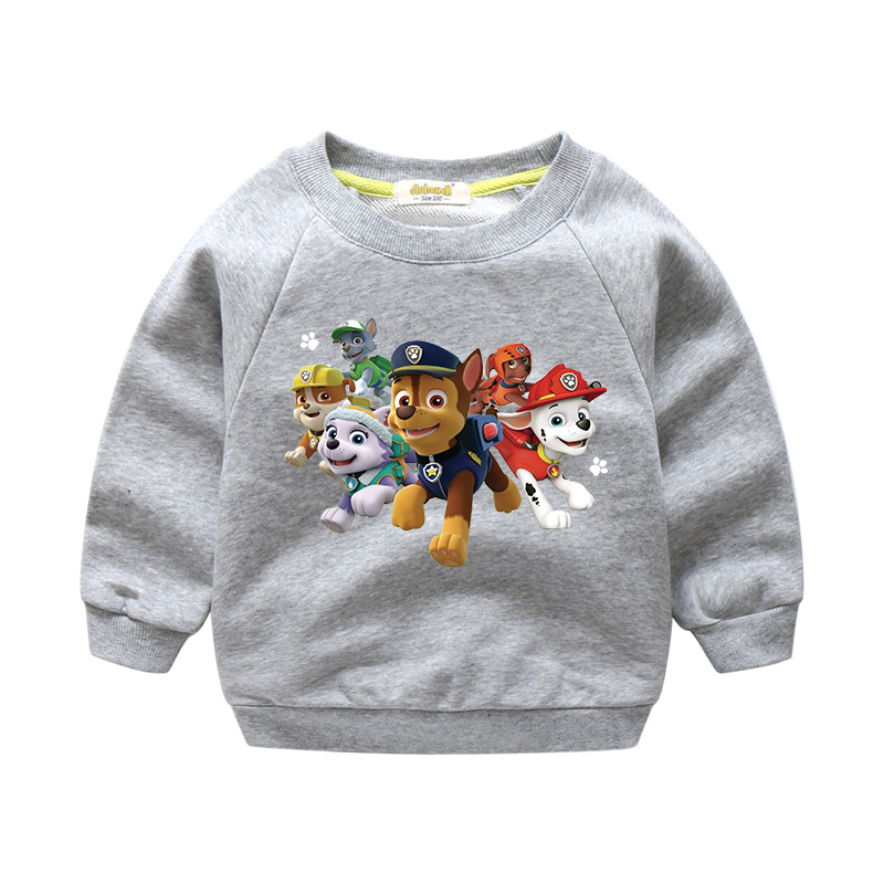 2018 New Year Children Spring Autumn Cartoon Dog Pattern Sweater For Boy Girl Long Sleeves 100%Cotton Tops Baby Clothes WY001