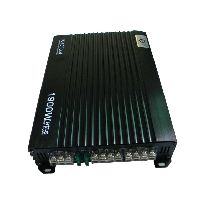 Amplificateur de voiture noir 12 V haute puissance 1900 W Audio 4 canaux 4 voies amplificateurs Booster Auto livraison gratuite chute