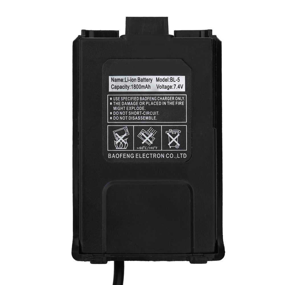 Duurzaam 1.48 m 12 v Walkie Talkie Autolader Batterij Eliminator voor Baofeng Dual Band Radio UV5R 5RA 5RE Zwart