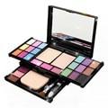 Natural 18 Colors Eye shadow Comestic Long Lasting Makeup Eyeshadow Palette Lip Gloss Foundation Powder Blusher Puff Toool