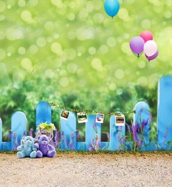 Ooozkken 8X12FT Balloon Background Bright Theme Newborn Photography Studio Photography