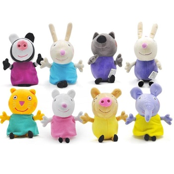 Peppa pig George Family friend Plush Toys 19cm Stuffed Doll Party Toys For Children emblem