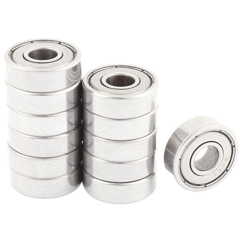 12 Pcs 608Z 22mm X 8mm X 7mm Single Row Deep Groove Ball Bearing