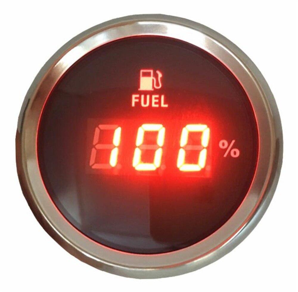 1 pc mètres de niveau de carburant numérique de haute qualité 52mm 0-100% jauges de niveau d'huile jauges de carburant pour moteurs de machines agricoles pour bateaux automobiles