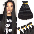 Best Quality 8A Brazilian Virgin Hair Straight Brazilian Remy Hair Weave Bundles 3 Pcs Full Head Rosa Brazilian Hair Bundles