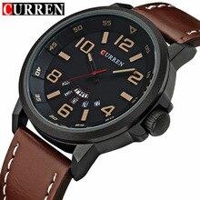 Curren mens relojes de primeras marcas de lujo de los hombres reloj de cuarzo de la muñeca militar hombres deportes relojes moda casual reloj masculino relogio del 8240