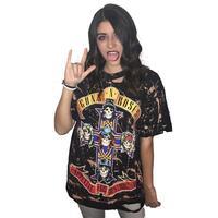 Yeni Kadın Yaz Puck Rock & Roll Tişört Kadın Baskılı Tops 2017 Kısa Kollu T Shirt Fahsion Casual Tees Punk üst WS1804V
