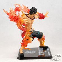 Anime One Piece Portgas D Ace Battle Ver. Fire Fist Ace PVC Action Figure