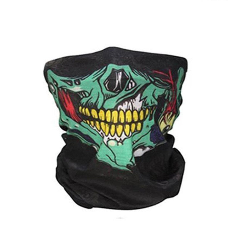 Yimistar #4022D Bicycle Ski Skull Half Face Mask Ghost Scarf Multi Use Neck Warmer COD yifei halloween skull skeleton mask motorcycle bicycle multi function scarf half face mask cap neck ghost scarf ski mask outdoor