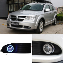 Superb 55W Halogen Bulbs COB Fog Lights  Source Angel Eye Bumper Cover For Dodge Journey