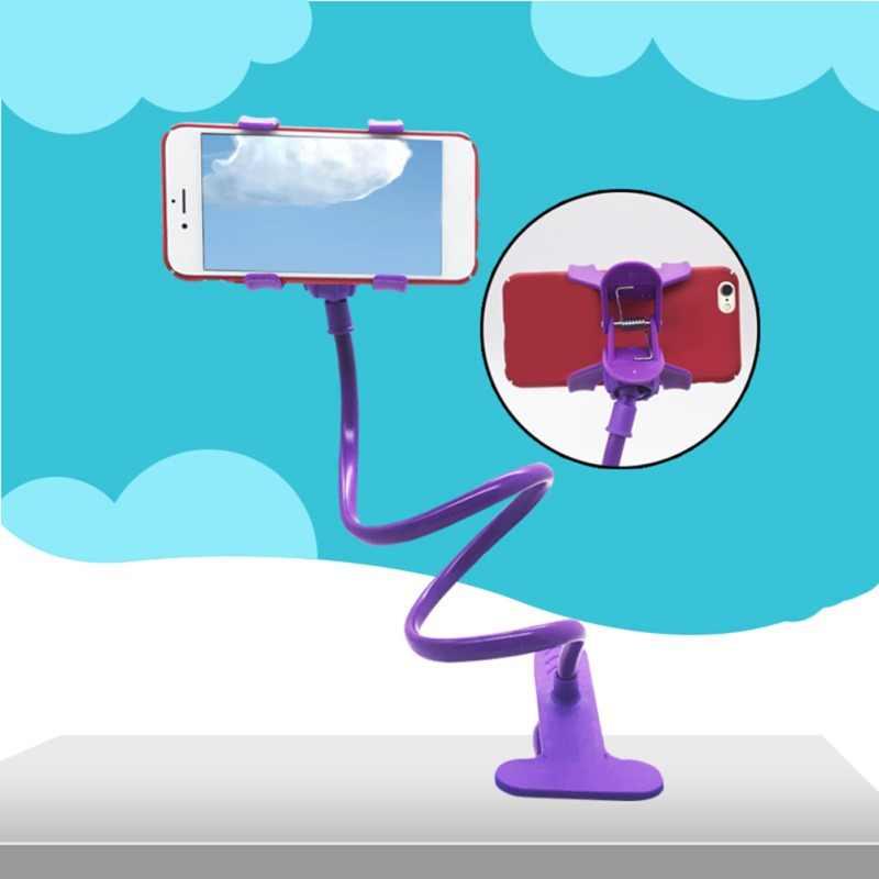 العالمي مرنة كسول حامل الذراع حامل هاتف المحمول حامل مكتب الجدول كليب قوس المعطي اللون لسامسونج آيفون شاومي