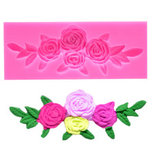TTLIFE Rose Flower Bloom Floral Silicone Fondant Soap 3D Cake Mold Cupcake Jelly Candy Chocolate Decorating Baking Tool Moulds