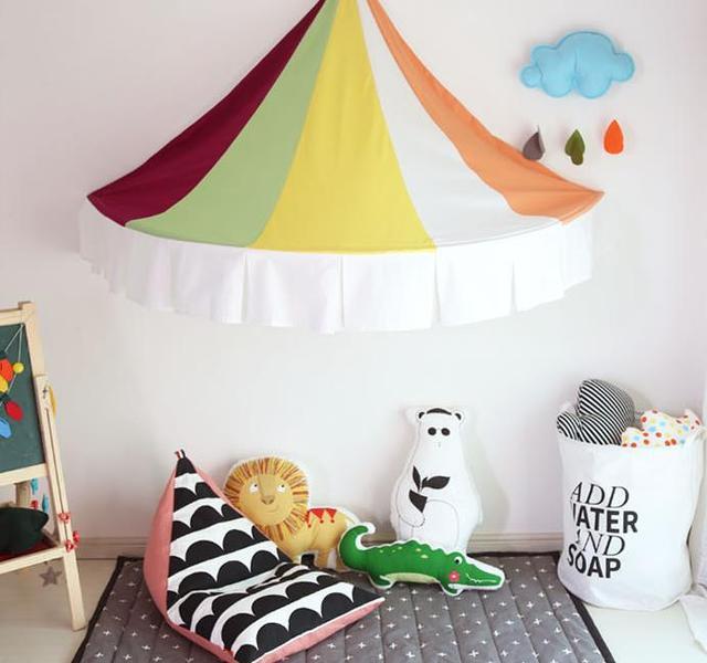 7 kleur katoen indian stijl kinderen tent bed mantel indoor spel huis baby fotografie lezen hoek