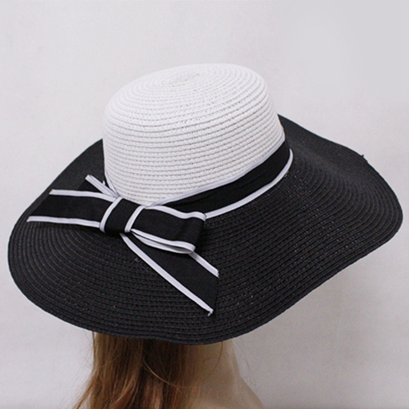938bf06557f 2018 New Women Vintage Wide Brimmed Sun Hat Wedding Tea Party Church Straw  Cap Bowknot Fashion Casual Beach Wear Cap Hats-in Sun Hats from Apparel ...