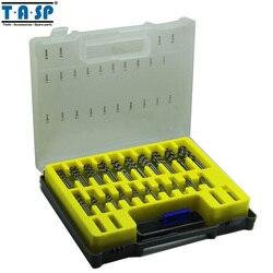TASP 150 قطعة HSS مايكرو ثنائي الفينيل متعدد الكلور مجموعة لقمة مثقاب الدقة تويست الحفر كيت مع صندوق تخزين