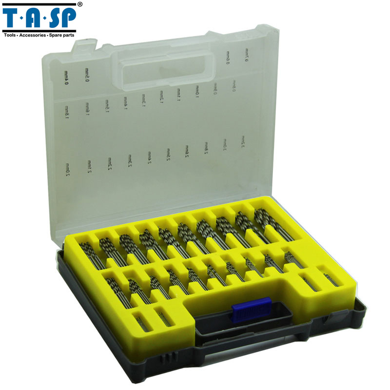 TASP 150PC HSS Micro PCB Drill Bit Set Precision Twist Drilling Kit with Storage Box 10pcs 0 5mm micro hss twist drilling auger bit for electrical drill new page 1