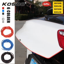 KOSOO Car Vehicle Door Edge Side Scratch Crash Strip Protection Sticker Decal For Lancia Delta Musa Auto Car-Styling Accessories