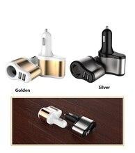 цена на 2pcs/lot DC 12-24V Car Cigarette Lighter Socket Splitter Charger 3.1A Dual USB Auto Car Charger Adapter charging for phone GPS