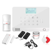 Wolf Guard DIY LCD GSM SMS Wireless Home Alarm Security Burglar System App Control Door Window