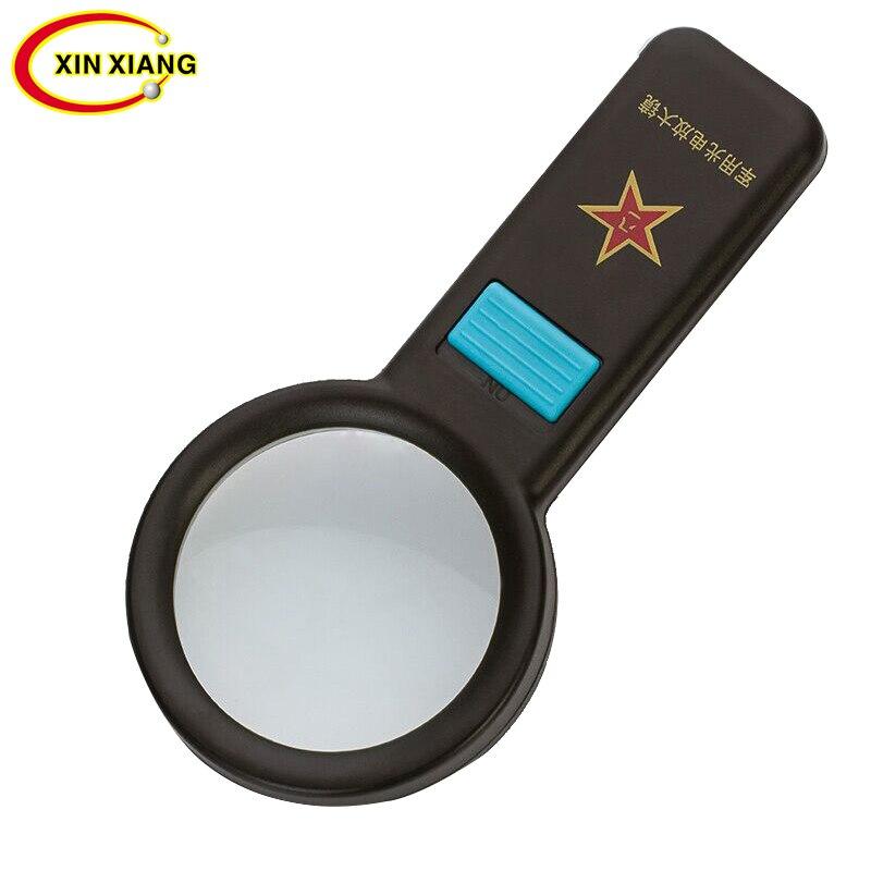 Lente de cristal de aumento 10/x /óptico de mano lupa lupa Negro