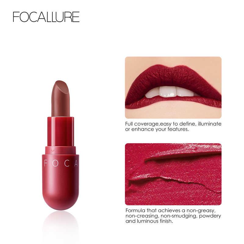 FOCALLURE Mini rossetto opaco impermeabile rosso marrone di velluto di lunga durata rossetto impermeabile set delle donne labbra maquiagem