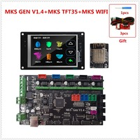 MKS GEN V1.4 motherboard MKS TFT35 touch screen color display MKS TFT WI FI parts 3D printer control unit diy starter kits