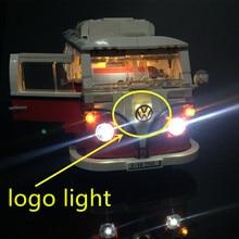 ترقية مجموعة إضاءة LED للخالق Volkswagen T1 شاحنة التخييم مجموعة ضوء متوافق مع 10220 و 21001 (لا تشمل نموذج)