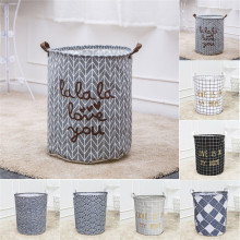 Dirty Clothes Storage Bags Sundries Clothing Baskets Folding Laundry Cotton Fabric Basket