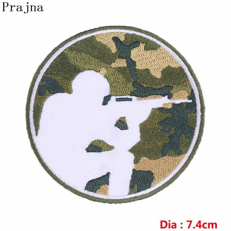 Prajna Military Patch Tactical Iron On Patches For Clothing Army Embroidery Stripe On Clothes DIY Jackets Badge Camouflage Bags