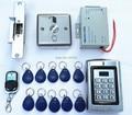 DIY Безопасный Замок Двери RFID Двери Контроля Доступа Kit + Удар Lock + Дверной звонок + Card Reader Intercome