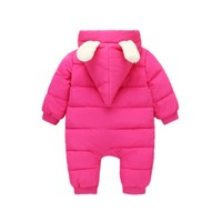 Infant Winter Long Sleeve Rompers Newborn Hooded Warm Children Outdoor Rompers Kids Baby Girls Boys Cute