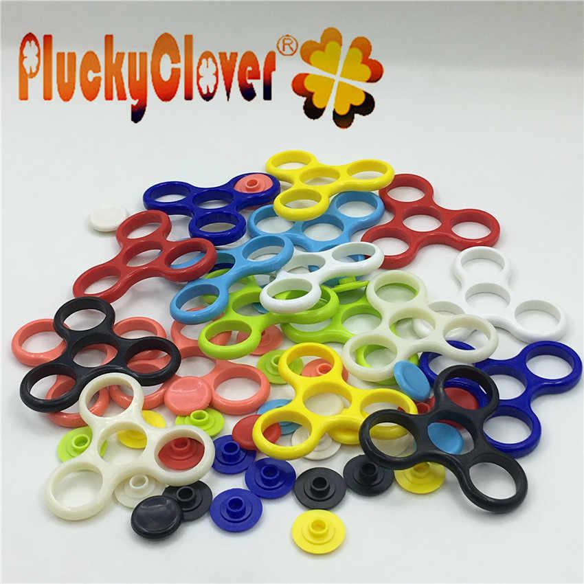 1 pc 7.5x7.5cm ABS Spinner rama tri-spinners zabawka Spinner EDC ręcznie Spinner Shell rama z tworzywa bez łożyska zabawki antystresowe