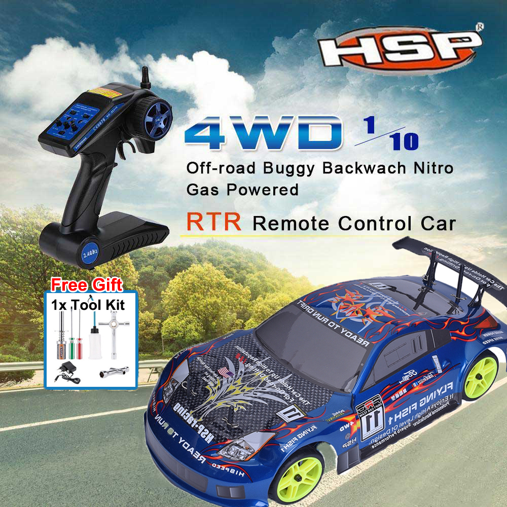 HSP Rc Car 94122 T 4wd Nitro Gas Power Remote Control Car 1/10 Scale Model On Road Touring Racing High Speed Drift Car+Tools kit 1 pair 02168 hsp rc 1 10 model 4wd on road car off road truck wheel axle 94122 94166