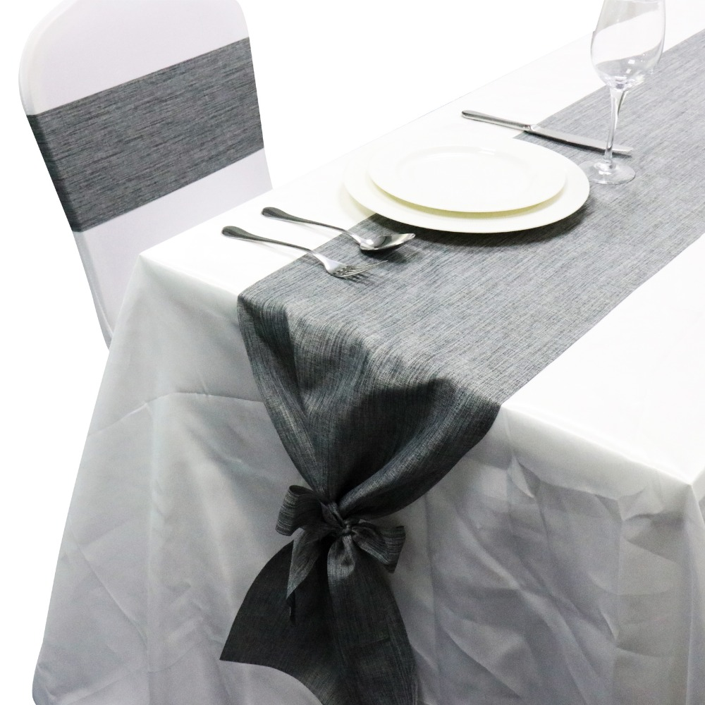 1pcs European-style Linen Table Runner Flag Cover For Hotel Restaurant Banquet Home Christmas Party Tablecloth Decoration Suppli