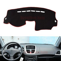 For Peugeot 207 Car Dashboard Avoid Light Pad Instrument Platform Desk Cover Mat With Velcro Auto