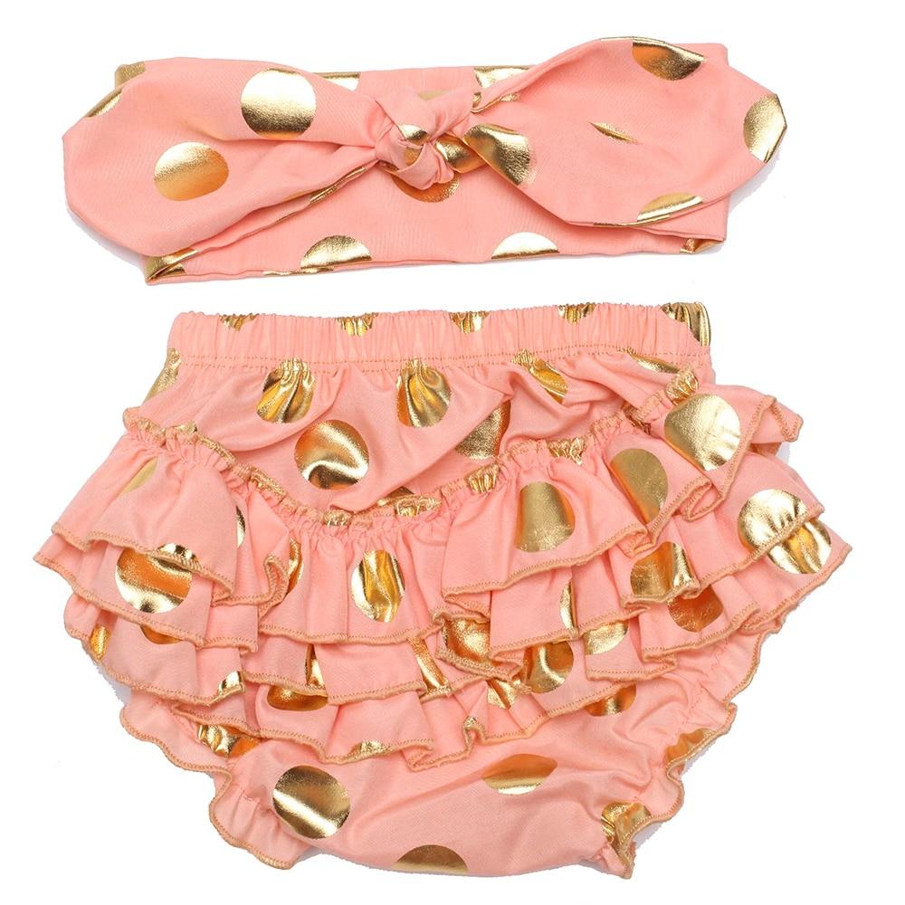 newborn clothing baby shower gift Black and gold baby bloomer set custom bloomers baby girl diaper cover polka dots baby girl headband