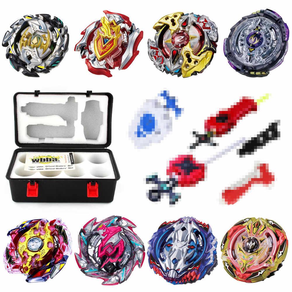 OP спиннинг Топ Burst B00 с пусковым устройством и коробкой Дети Мальчики Смешные игрушки стартер Zeno Excalibur. М. И (Xeno Xcalibur. М. И) Игрушка-галька