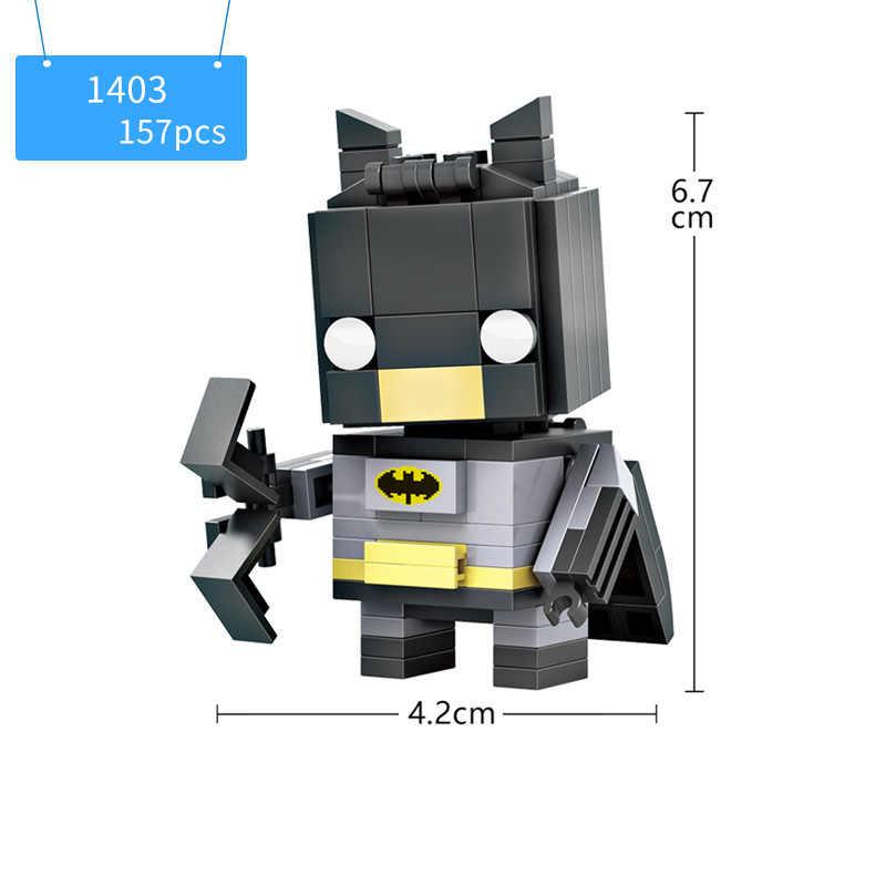 Большая голова dc Супергерои Мститель marvel Мини-блок Капитан Америка Железный человек Человек-паук Бэтмен Тор Халк Циклоп укладки кирпичная игрушка