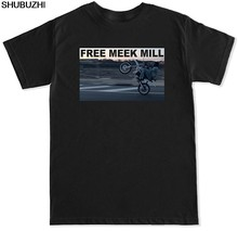 FTD Apparel Men's Free Meek Mill Wheelie T Shirt Round Neck Best Selling Male Natural Cotton T-Shirt TOP TEE Funny Casual Brand(China)