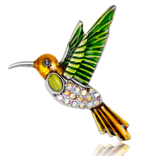 New Style Animal Bird Brooch Enamel Swallow Shape Brooch Pins for Collar Dress Scarf Buckle Hat Men Lady Corsage Party Decor crystal enamel green gecko brooches lizard brooch pins animal corsage chameleon scarf buckle