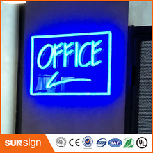 Hot sales glowing 3D acrylic LED nighttime lighting neon letter signs for shops(China)