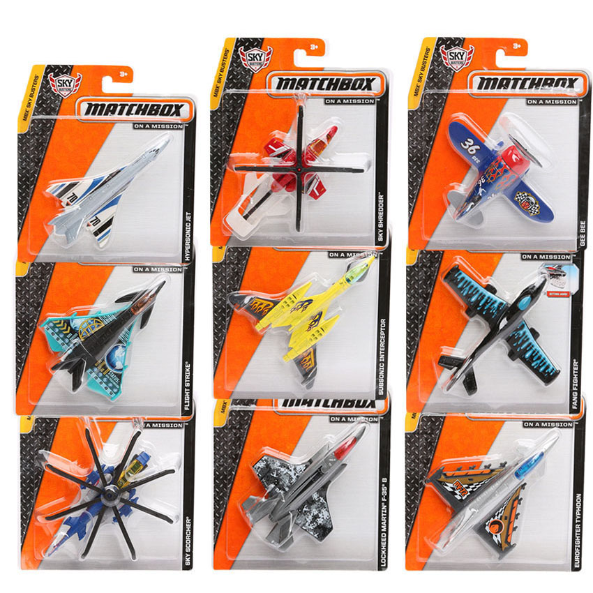 Packung 5 Matchbox Mini Stadt Heroes Serie Sky kerle Flugzeug Modell Metall Flugzeuge Hubschrauber für Jungen Diecast Air flugzeug
