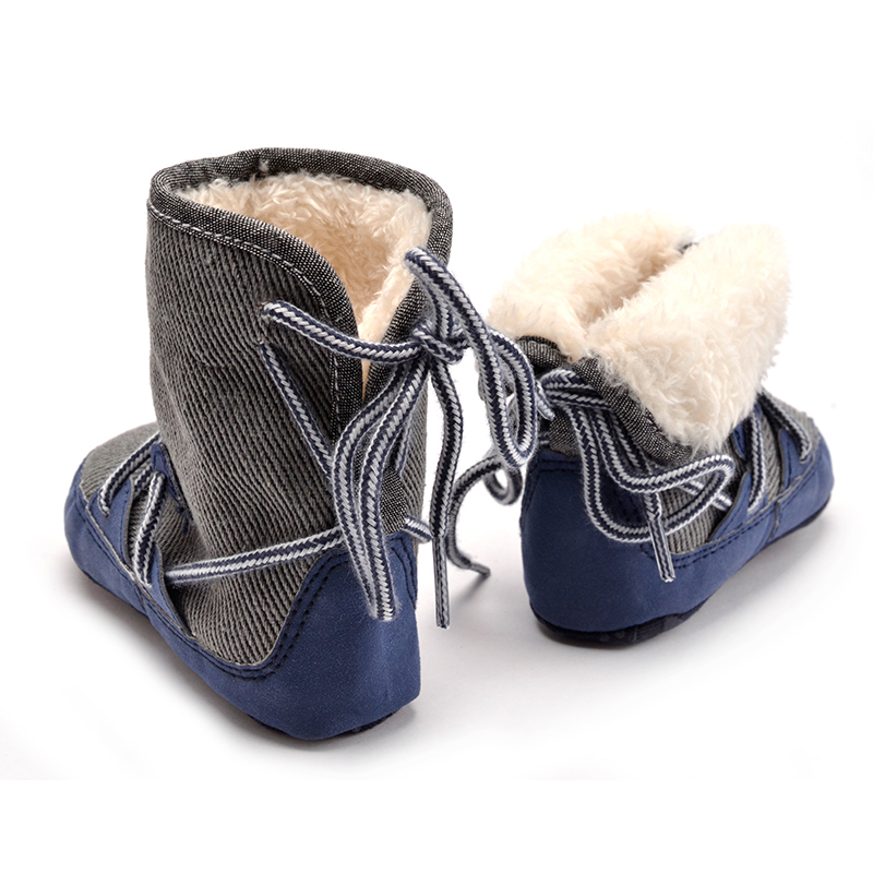 Kids Baby Boy Toddler Winter Warm High Snow Boots Soft Bottom Shoes Ankle Shoes