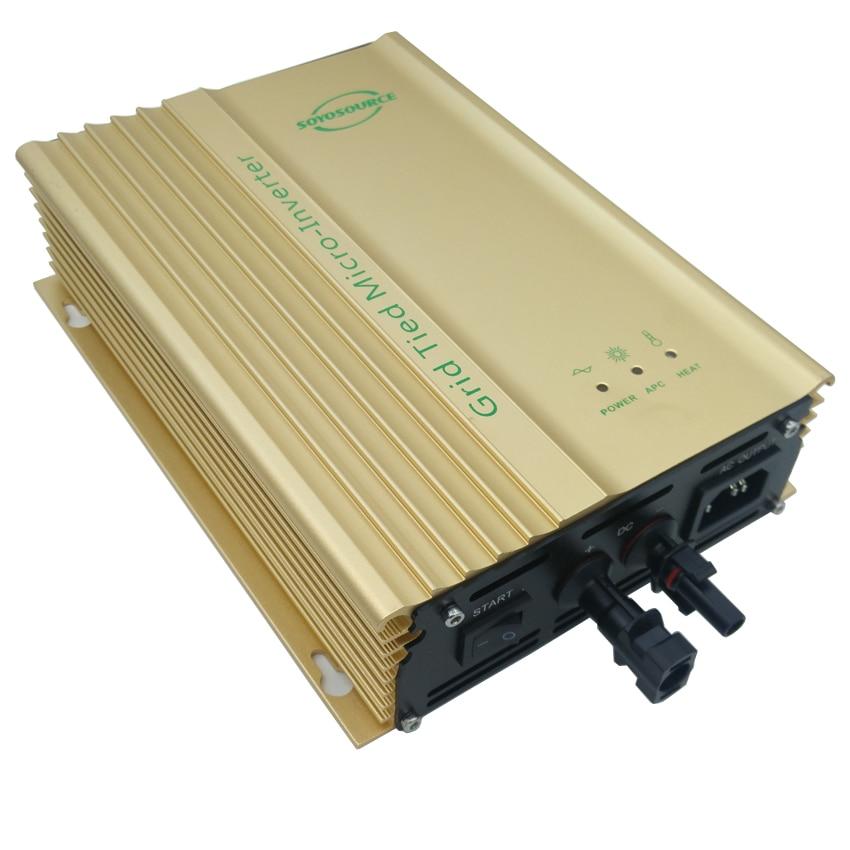 500W Grid Tie Inverter 12V work for dc voltage 16v-28V ac 230V 110v AC output or 12V Battery mppt Solar Inverter pure sine wave 500w 18v grid tie inverter 10 5 28v dc to ac 190 260v pure sine wave inverter suitable for hybrid wind solar power system