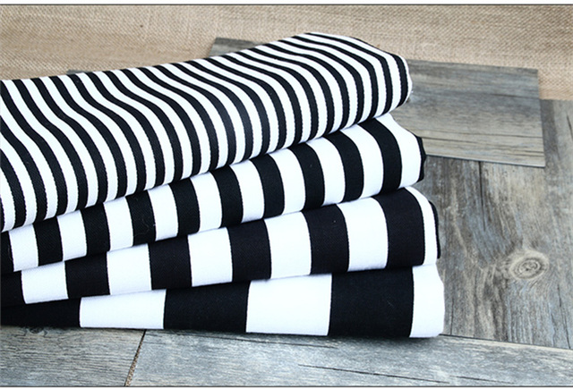 Printed Canvas Curtain Fabric Sofa Set Of Red And White Striped Black Blue Dot