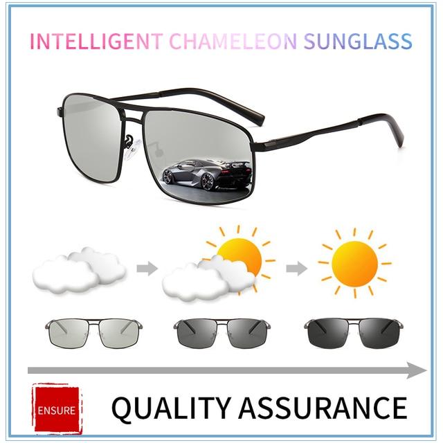 63c74b907fb 2018 new Driving Photochromic Sunglasses Men Polarized Chameleon  Discoloration Sun glasses for men oculos de sol masculino cool-in Sunglasses  from Men s ...