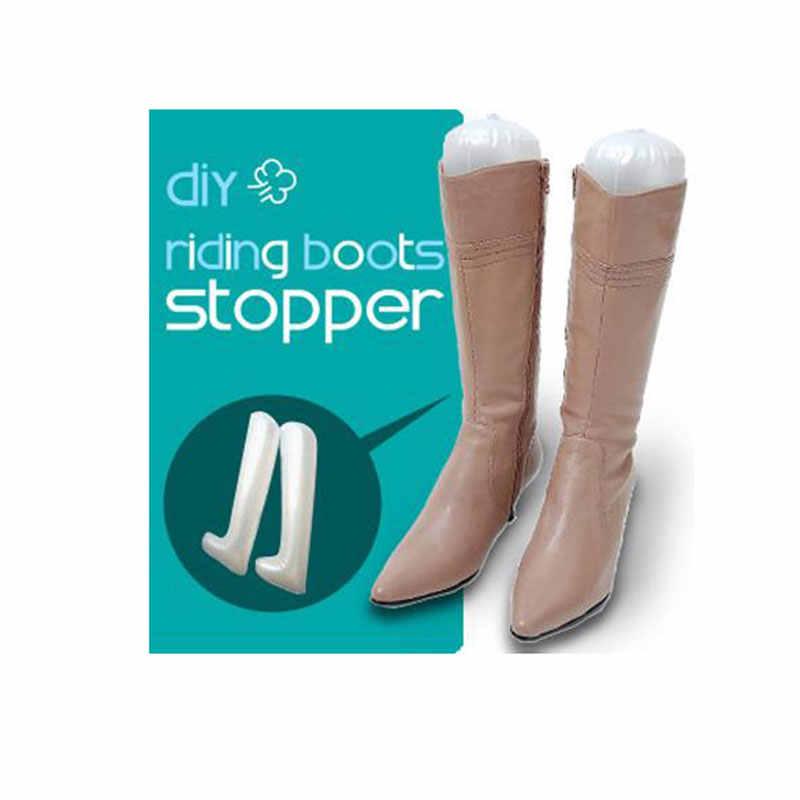 1 пара 32 см женские надувные ботинки держатель Носилки Обувь Дерево сапоги ПВХ пластик высокие туфли Поддержка Shaper высокие сапоги колодки для сапог
